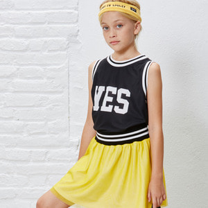 Yes & No Vest Tee - Black ★ONLY 6Y★