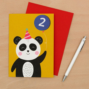 Panda 2nd B-Day Card