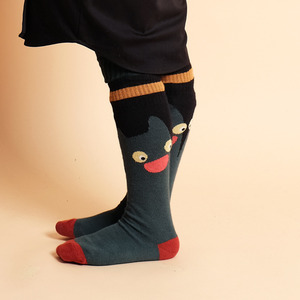 Cat Socks (baby/Kid) - Green ★ONLY baby size★