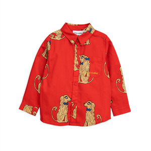 Spaniels Woven Shirt - Red ★ONLY 2-3Y★