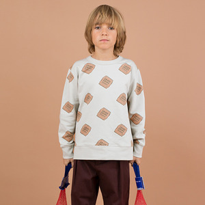 Crisps Fleece Sweatshirt - Light Grey/Dark Nude