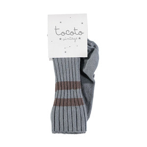 Ribbed Striped Socks - Blue