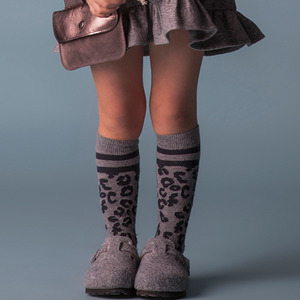 Animal Print Socks - Grey
