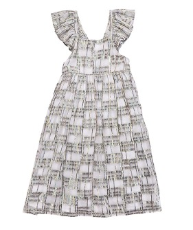 Salvador Dress - White Rainbow ★ONLY 6Y★