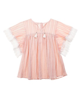 Sterlitzia Dress - Blush Stripes
