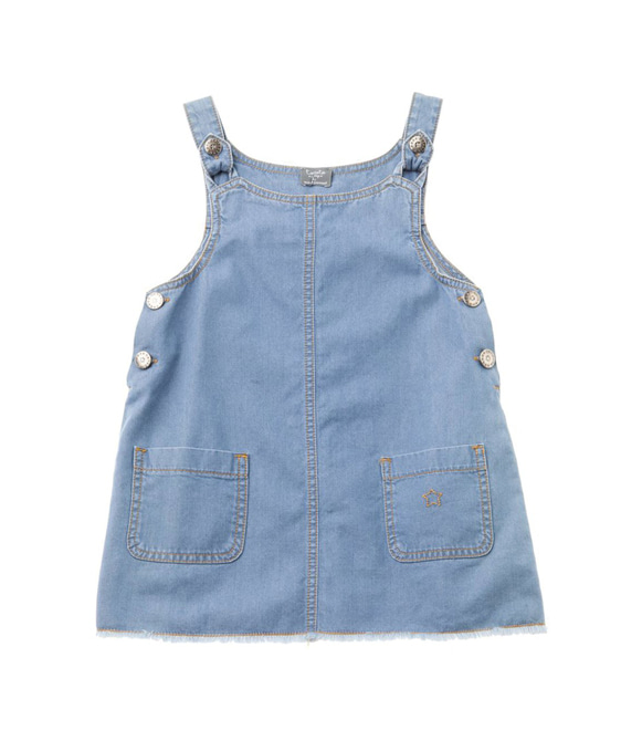 Denim Pinafore Dress #S31419
