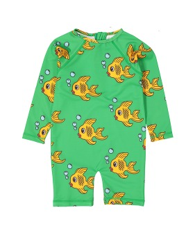 Rash Guard - Green Fish ★ONLY 18-24M★