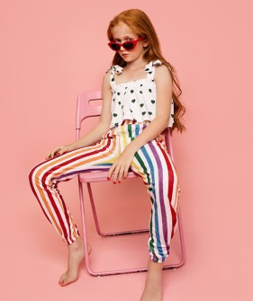 Terry 80's Sweat Pants - Rainbow Stripe ★ONLY 2Y★