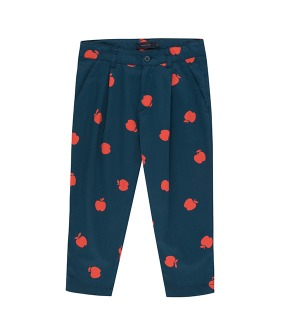 Apples Pleated Pant - True Navy/Burgundy