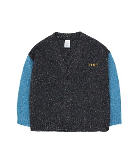 Tiny Cardigan - True Navy/Light Cerulean Blue