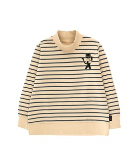 Cat Sweatshirt - Sand/True Navy