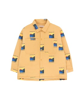Sausalito Shirt - Sand/True Navy