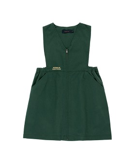 Lw Citizen V-Neck Dress - Bottle Green