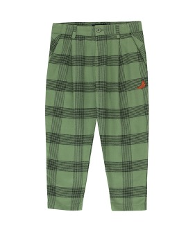 "Check ""Seal"" Pleated Pant - Green Wood/Black"