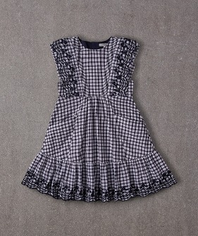 Isabel Dress - Blue Gingham