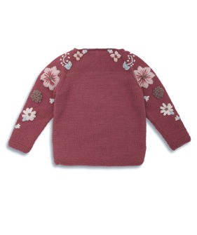 Flora Sweater - Deep Berry