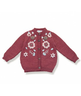 Flora Cardigan - Deep Berry