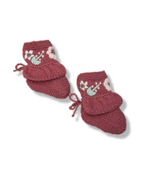 Flora Footies - Deep Berry