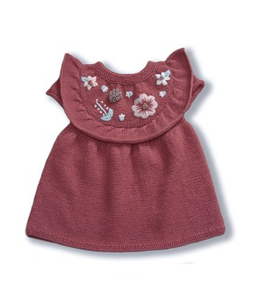 Flora Baby Dress - Deep Berry