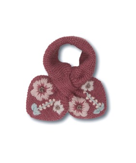 Flora Scarf - Deep Berry