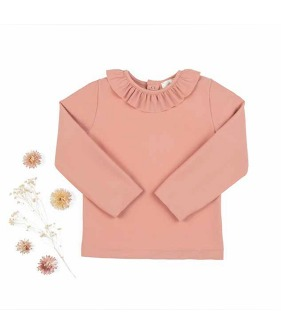 Chloe Top Volant - Terracotta