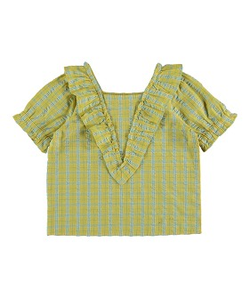 Freesia Blouse - Check Yellow