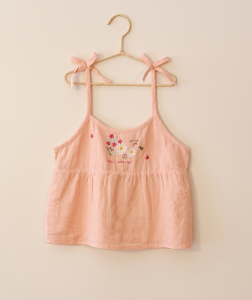 Top Embroidery - Peach