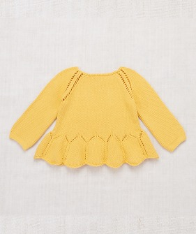Peplum Pullover - Sunflower