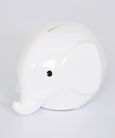 Elephant Coinbank - white ★LAST ONE★