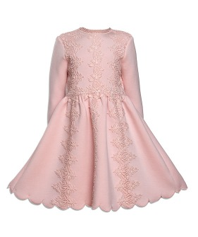 Double Knit Lace Dress - Pink