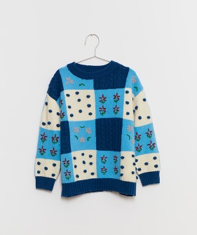 Patchwork Sweater - Blue