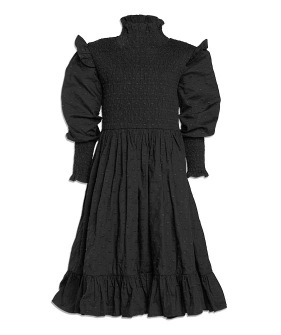 Shirred Dress - Black