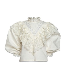 Crochet Lace Blouse - Cream ★ONLY 8Y★