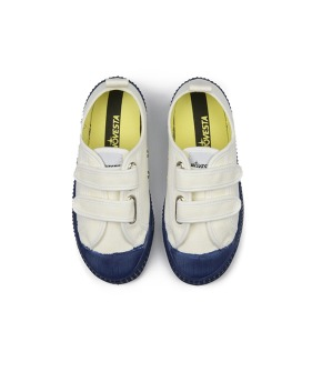 Star Master Kid Velcro Color Sole - White/Navy