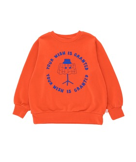 Wishing Table Sweatshirt - Red/Iris Blue