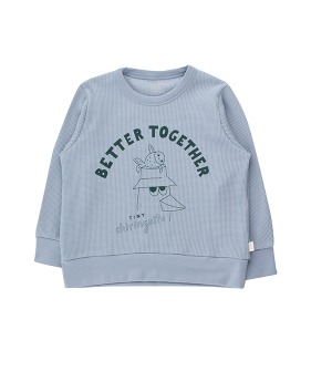 Friends Together Sweatshirt - Summer Grey/Ink Blue