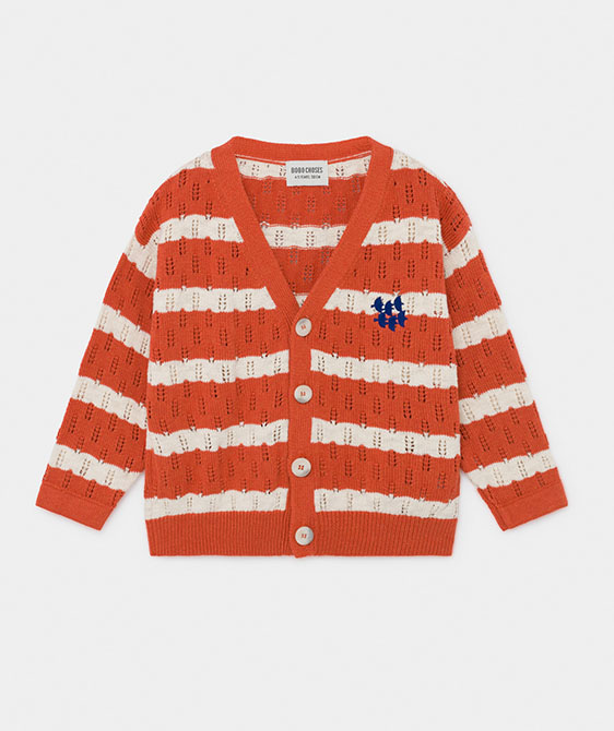 Striped Knitted Cardigan (Kid) #01142 ★ONLY 4-5Y★
