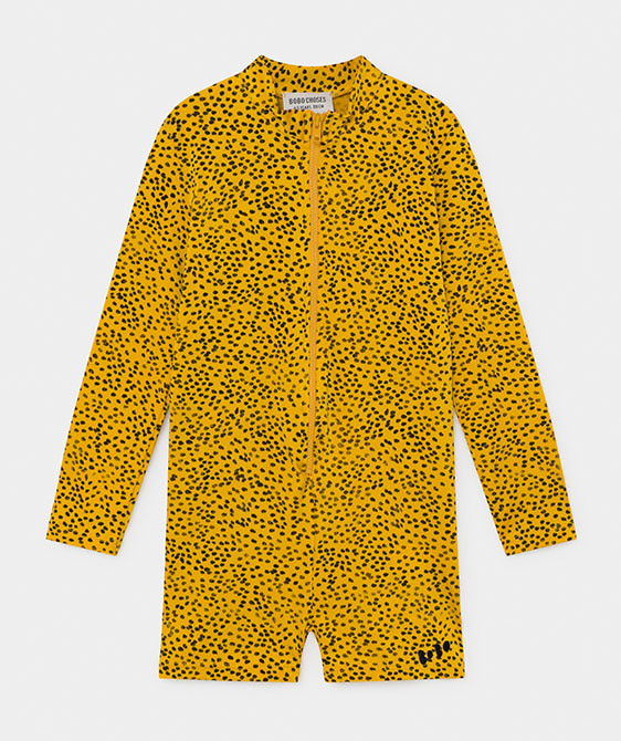 All Over Leopard Swim Playsuit (Kid) #01170