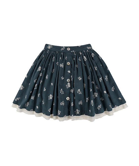 Salcombe Skirt - Teal Floral
