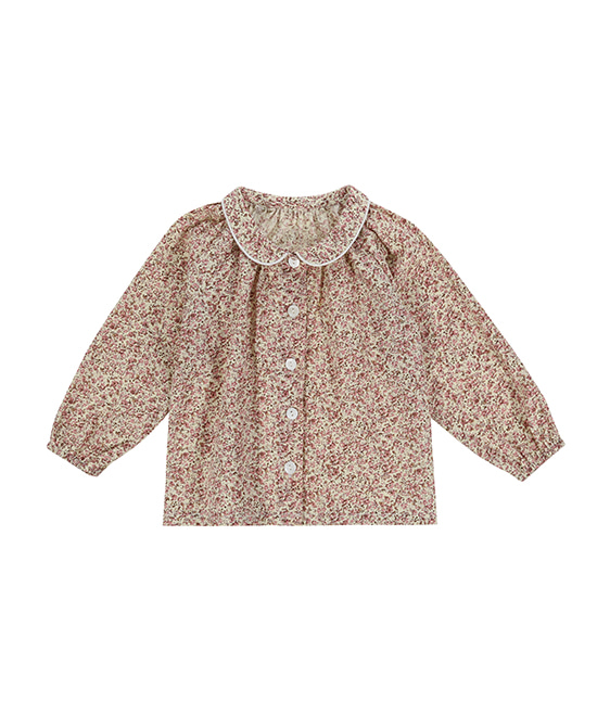 Annie Blouse - Pink Floral ★ONLY 7-8Y★