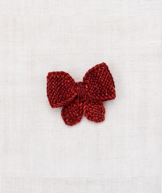 Medium Puff Bow - Brick