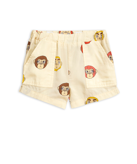 Monkey Woven Shorts - Offwhite ★ONLY 128/134★