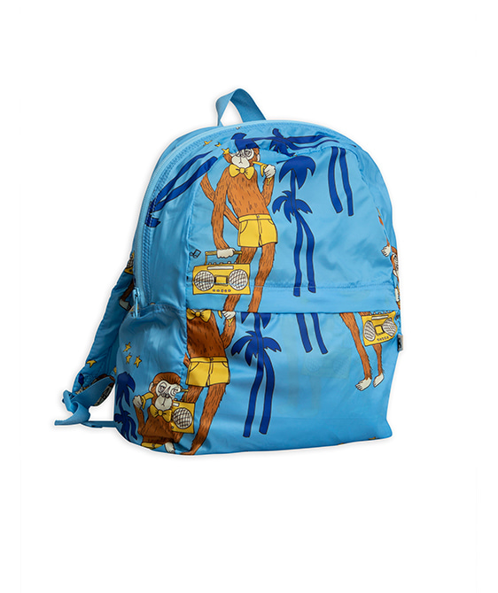 Cool Monkey Backpack - Light Blue