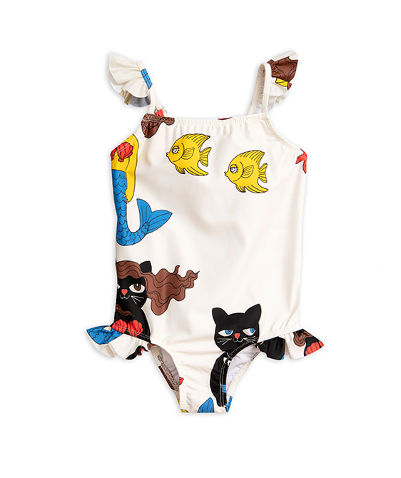 Cat Mermaid Wing Swimsuit - Off White