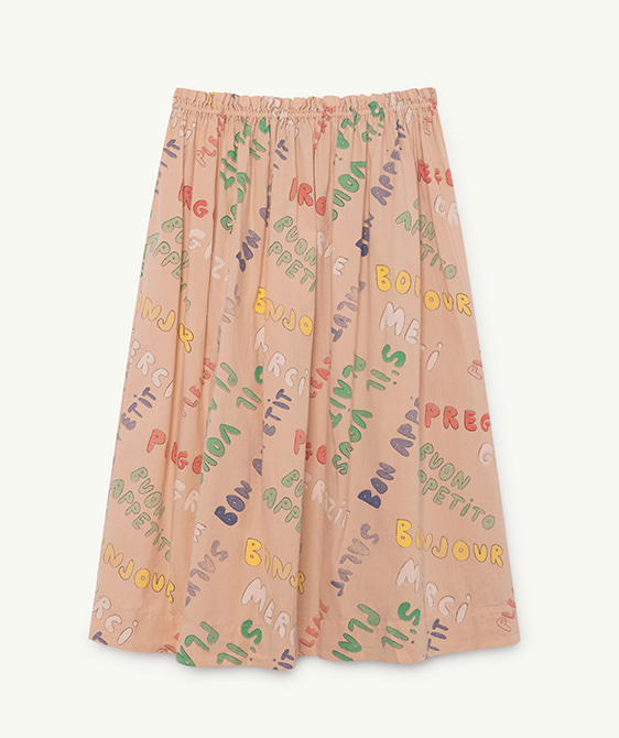 Blowfish Kids Skirt - Toasted Almond Words