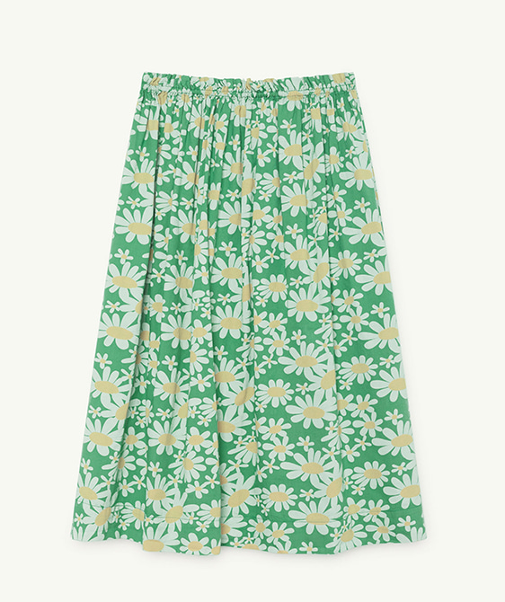 Blowfish Kids Skirt - Green Daisies