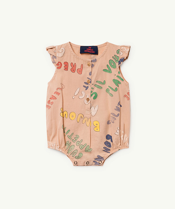 Butterfly Babies Jumpsuit - Toasted Almond Words ★ONLY 12M★