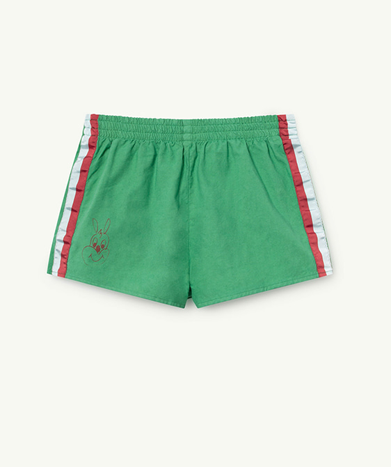 Spider Kids Shorts - Green Rabbit