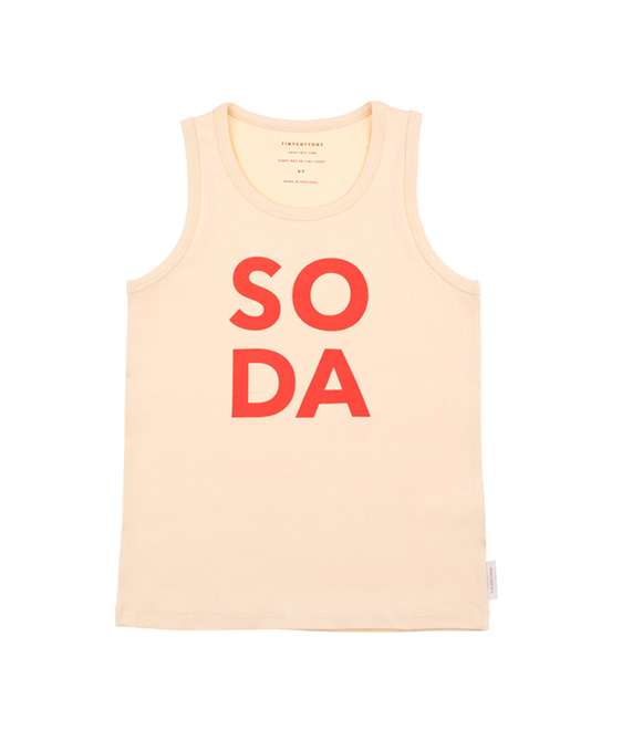 'Soda' Tank Top - Cream/Red ★ONLY  10Y★