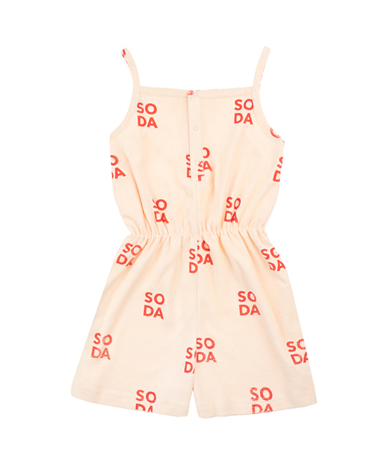 'Soda' Romper - Cream/Red